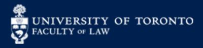 University of Toronto Faculty of Law Logo